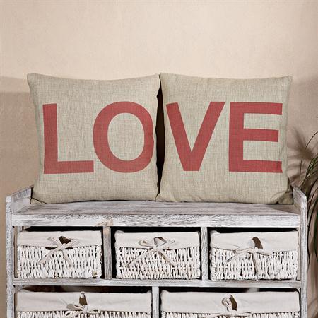 2er dekokissen kissen inkl f llung motiv love. Black Bedroom Furniture Sets. Home Design Ideas
