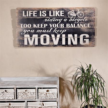 shabby wand bild board aus holz querformat moving. Black Bedroom Furniture Sets. Home Design Ideas