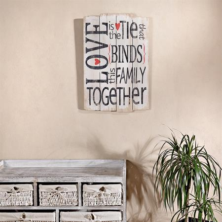 Shabby Wand Bild Board aus Holz - Love Together