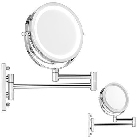 10-fach Kosmetikspiegel Wandspiegel inkl. LED