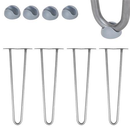 4 x Hairpin Leg - 2 Streben - 25 cm - Stahl