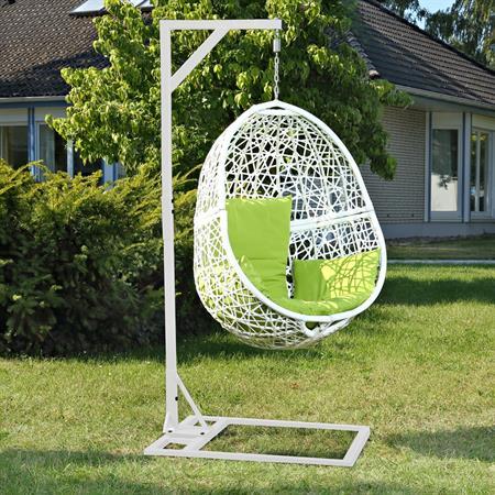 Polyrattan Swing Chair Hängesessel - weiß