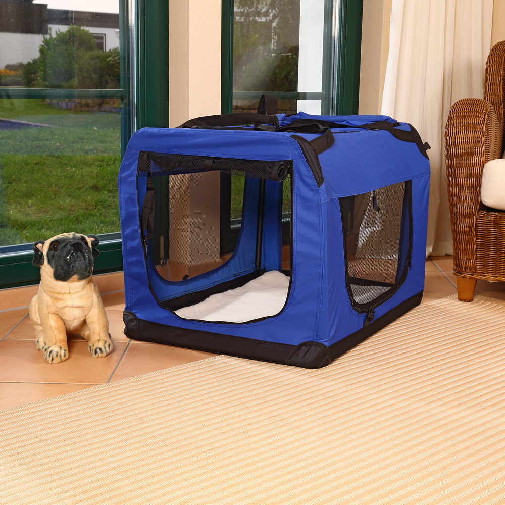 62cm transport box folding box dog kennel cat box dog. Black Bedroom Furniture Sets. Home Design Ideas