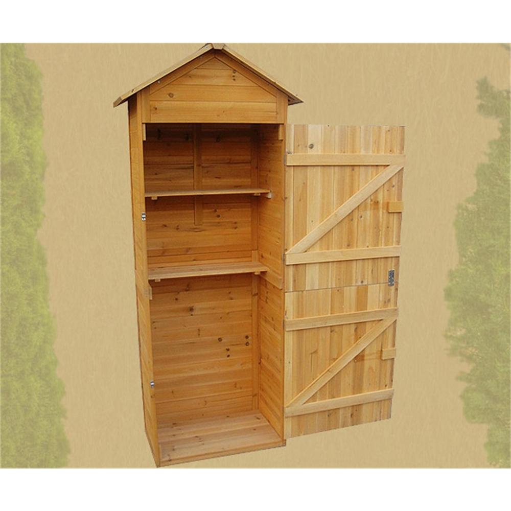 xl holz ger tehaus ger teschuppen gartenschrank ger teschrank gartenhaus m01 ebay. Black Bedroom Furniture Sets. Home Design Ideas