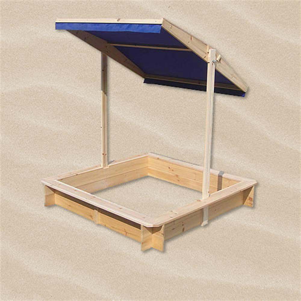 sandkasten mit verstellbaren dach spielhaus sandbox. Black Bedroom Furniture Sets. Home Design Ideas