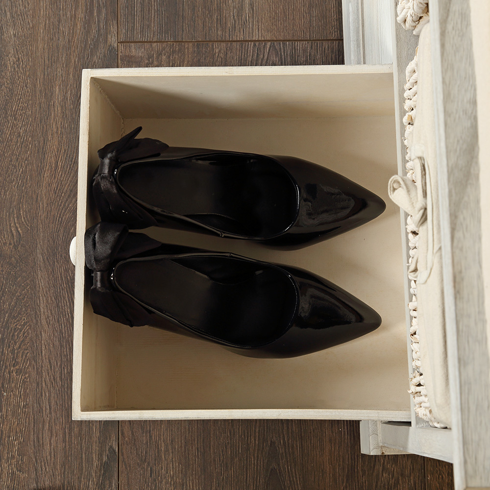 kommode shabby wei sitzbank flur m sitzkissen 2 k rbe. Black Bedroom Furniture Sets. Home Design Ideas