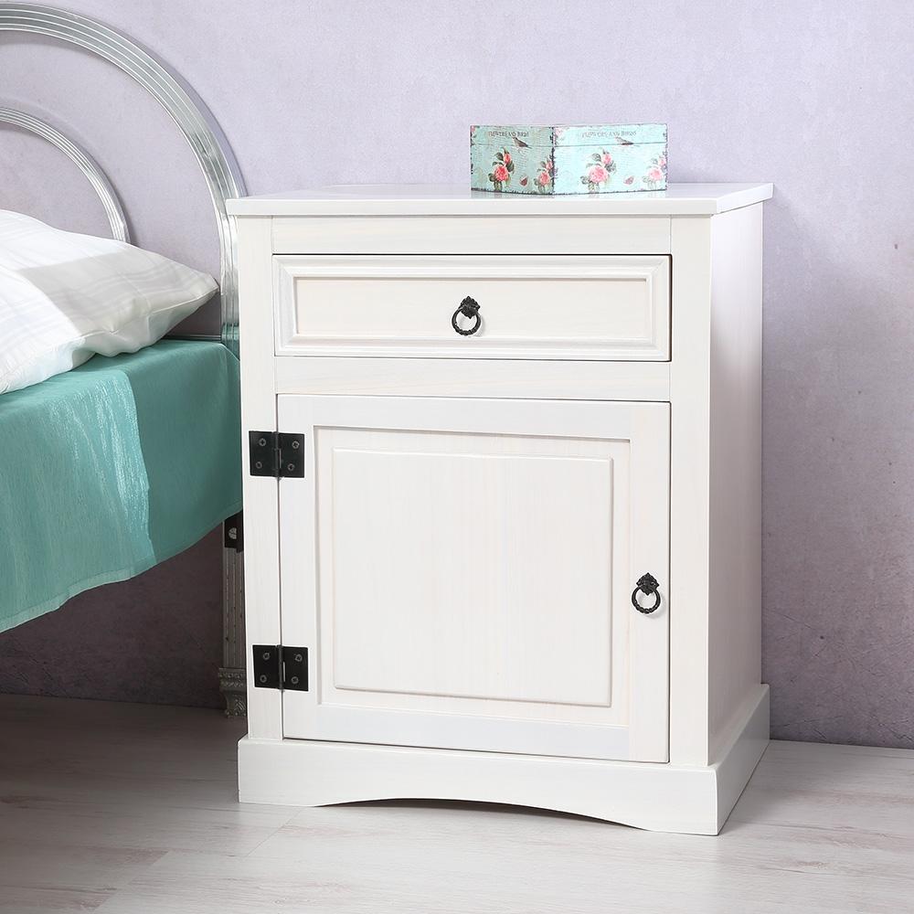 nachttisch nachtkonsole schrank schlafzimmer wei braun kommode landhaus vintage ebay. Black Bedroom Furniture Sets. Home Design Ideas