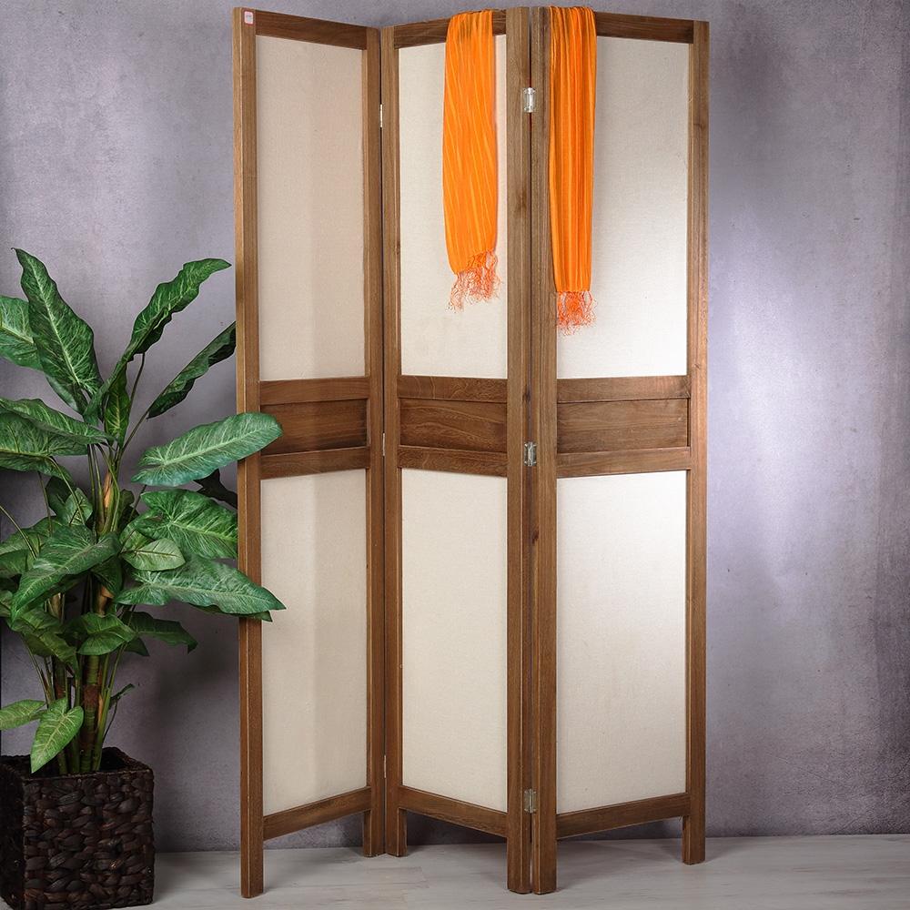 raumteiler paravent 3 tlg vintage stil used look sichtschutz shabby stellwand ebay. Black Bedroom Furniture Sets. Home Design Ideas