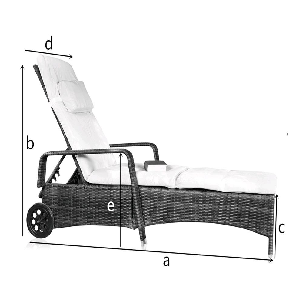 Sonnenliege Gartenliege Liege Liegestuhl Relaxliege Polyrattan Weiß verstellbar eBay ~ 18031819_Liegestuhl Mehrfach Verstellbar