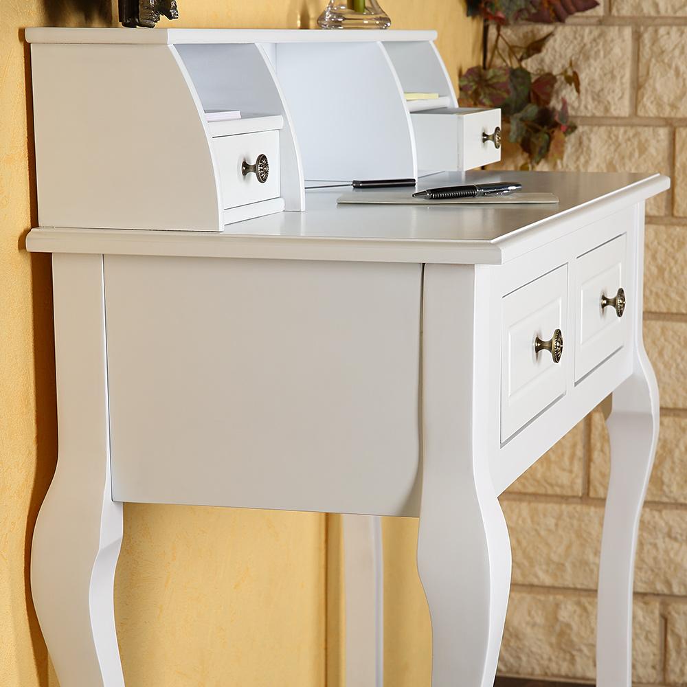 schreibtisch sekret r antik schminktisch shabby chic frisierkommode landhaus mdf ebay. Black Bedroom Furniture Sets. Home Design Ideas