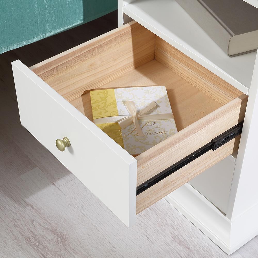 Nachttisch schrank beistelltisch schlafzimmer wei for Beistelltisch schlafzimmer