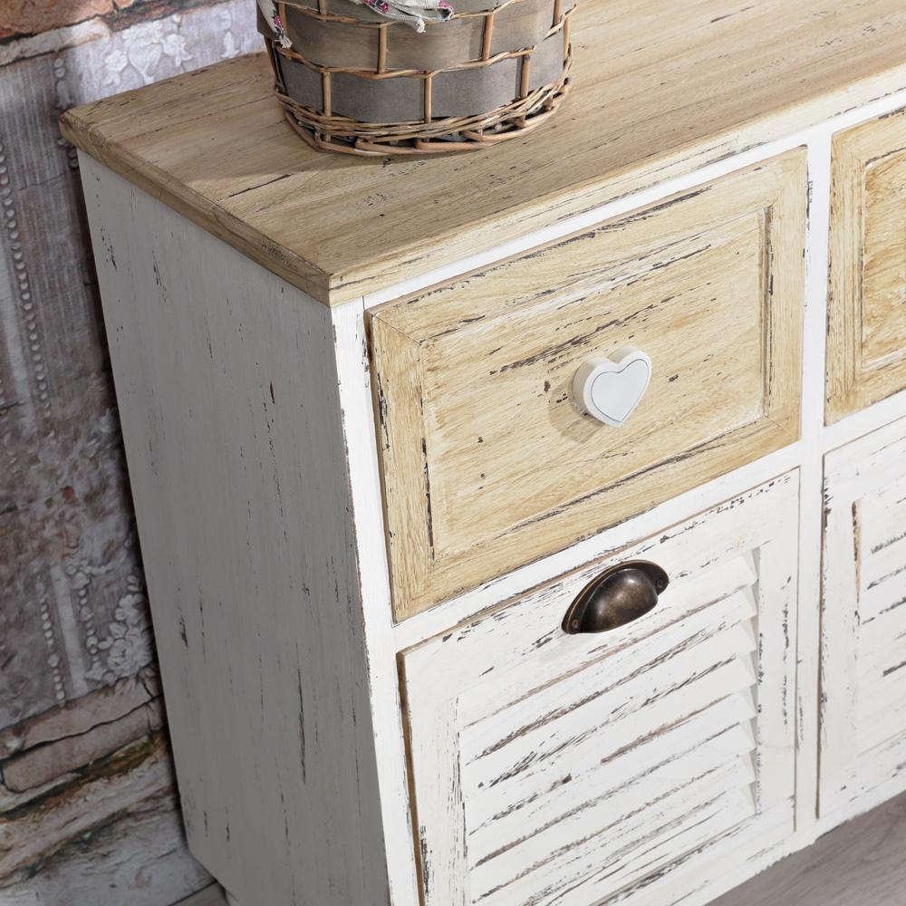 anrichte 4 f cher muschelgriffe sideboard apothekerschrank. Black Bedroom Furniture Sets. Home Design Ideas
