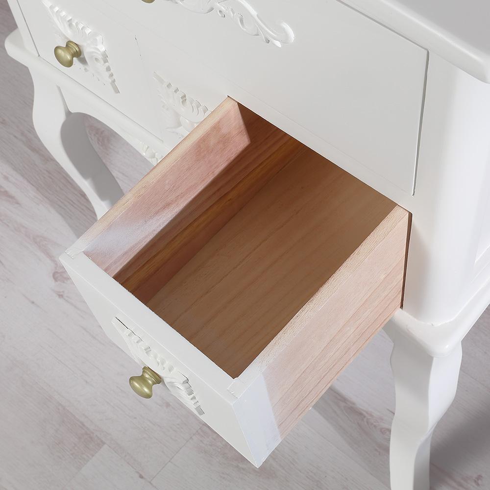 nachtschrank nachtkonsole vintage stil verzierungen wei 3. Black Bedroom Furniture Sets. Home Design Ideas