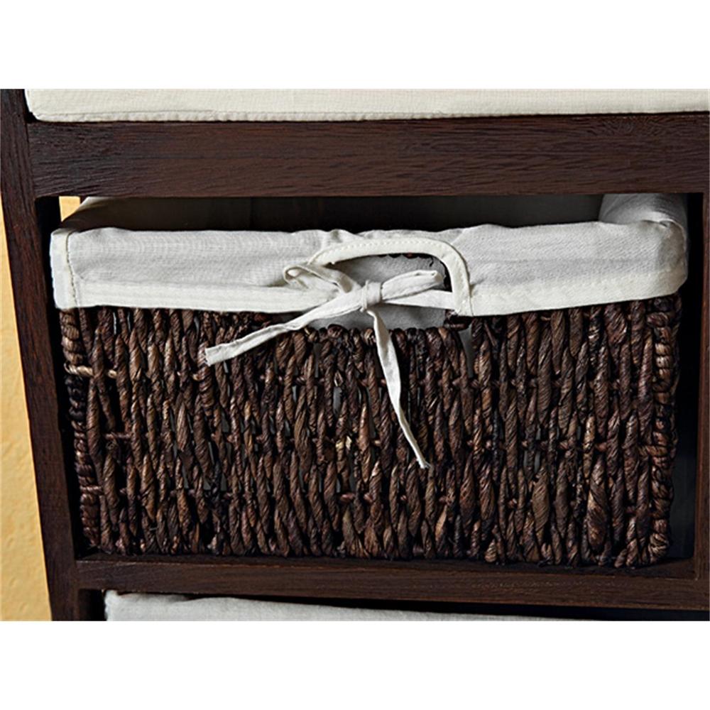 sitzbank mit k rben bank kissen weide holz bank truhenbank. Black Bedroom Furniture Sets. Home Design Ideas