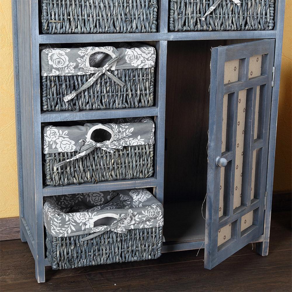 Landhaus kommode k chenschrank flur regal sideboard shabby for Sideboard grau