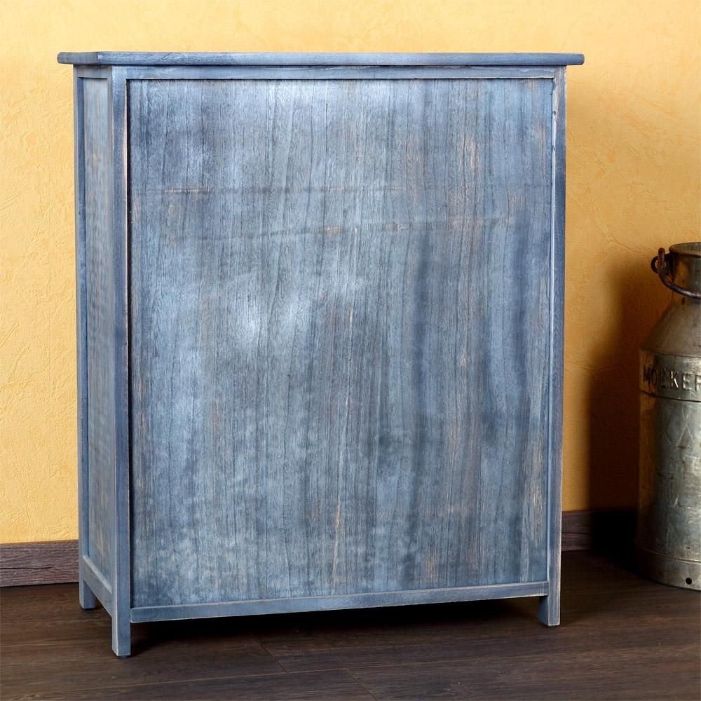 landhaus kommode k chenschrank flur regal sideboard shabby grau badschrank e ebay. Black Bedroom Furniture Sets. Home Design Ideas
