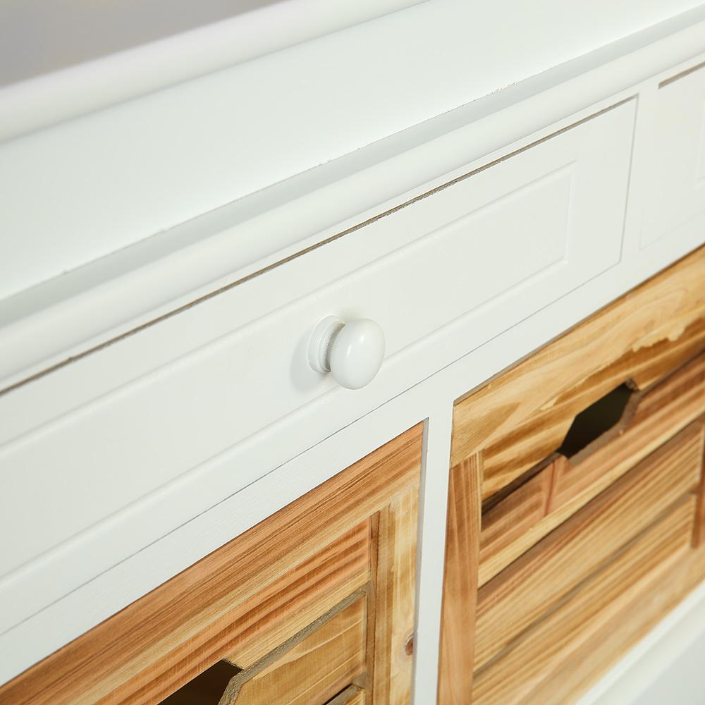 100cm landhaus kommode schrank sideboard lowboard regal. Black Bedroom Furniture Sets. Home Design Ideas