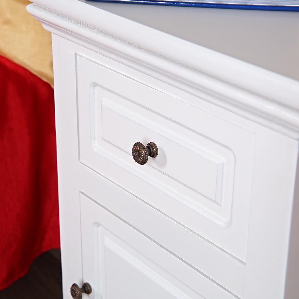 2x landhaus kommode nachttisch nachtschrank schrank wei tisch nachtkonsole holz ebay. Black Bedroom Furniture Sets. Home Design Ideas