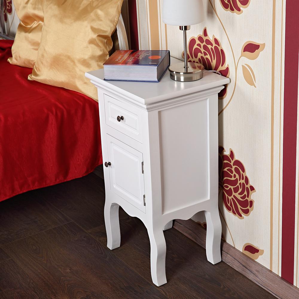 landhaus kommode nachttisch nachtschrank schrank wei. Black Bedroom Furniture Sets. Home Design Ideas