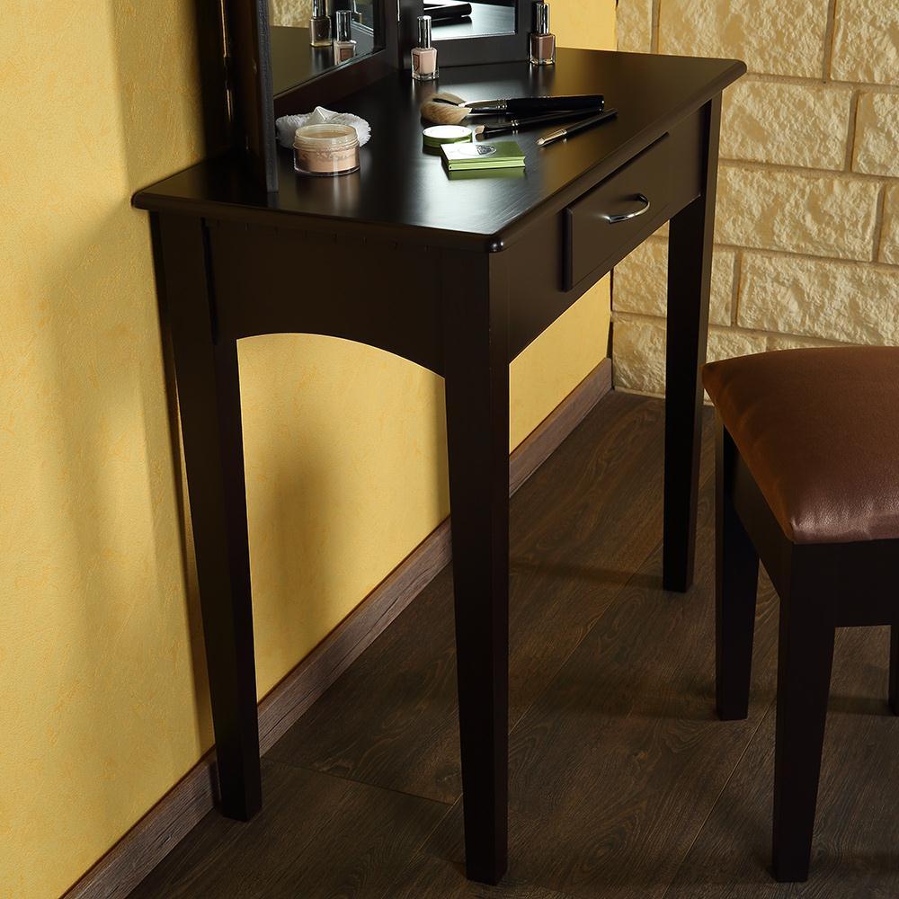 schminktisch inkl hocker spiegel frisierkommode frisiertisch kosmetiktisch neu ebay. Black Bedroom Furniture Sets. Home Design Ideas