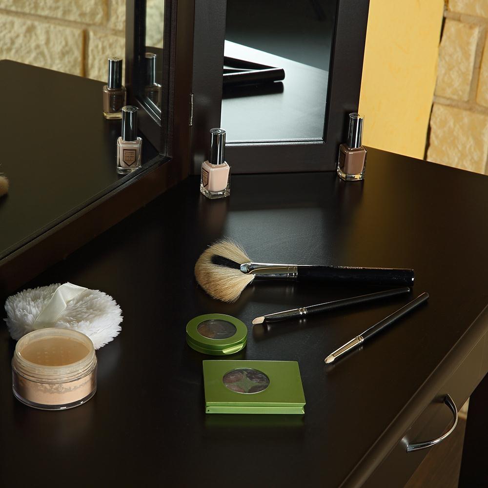 Schminktisch inkl hocker spiegel frisierkommode - Schminktisch braun ...