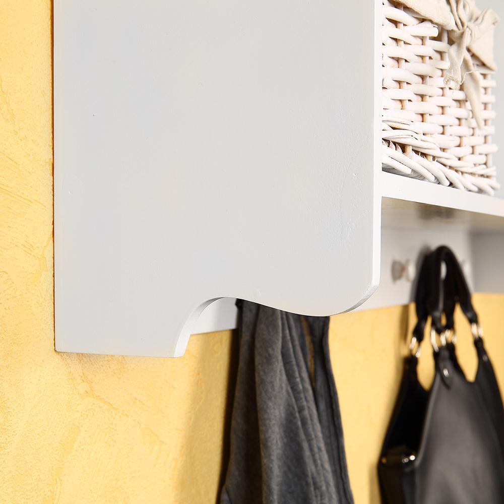 h ngeschrank in wei landhaus wandschrank k chenschrank wandregal mit 3 k rben ebay. Black Bedroom Furniture Sets. Home Design Ideas