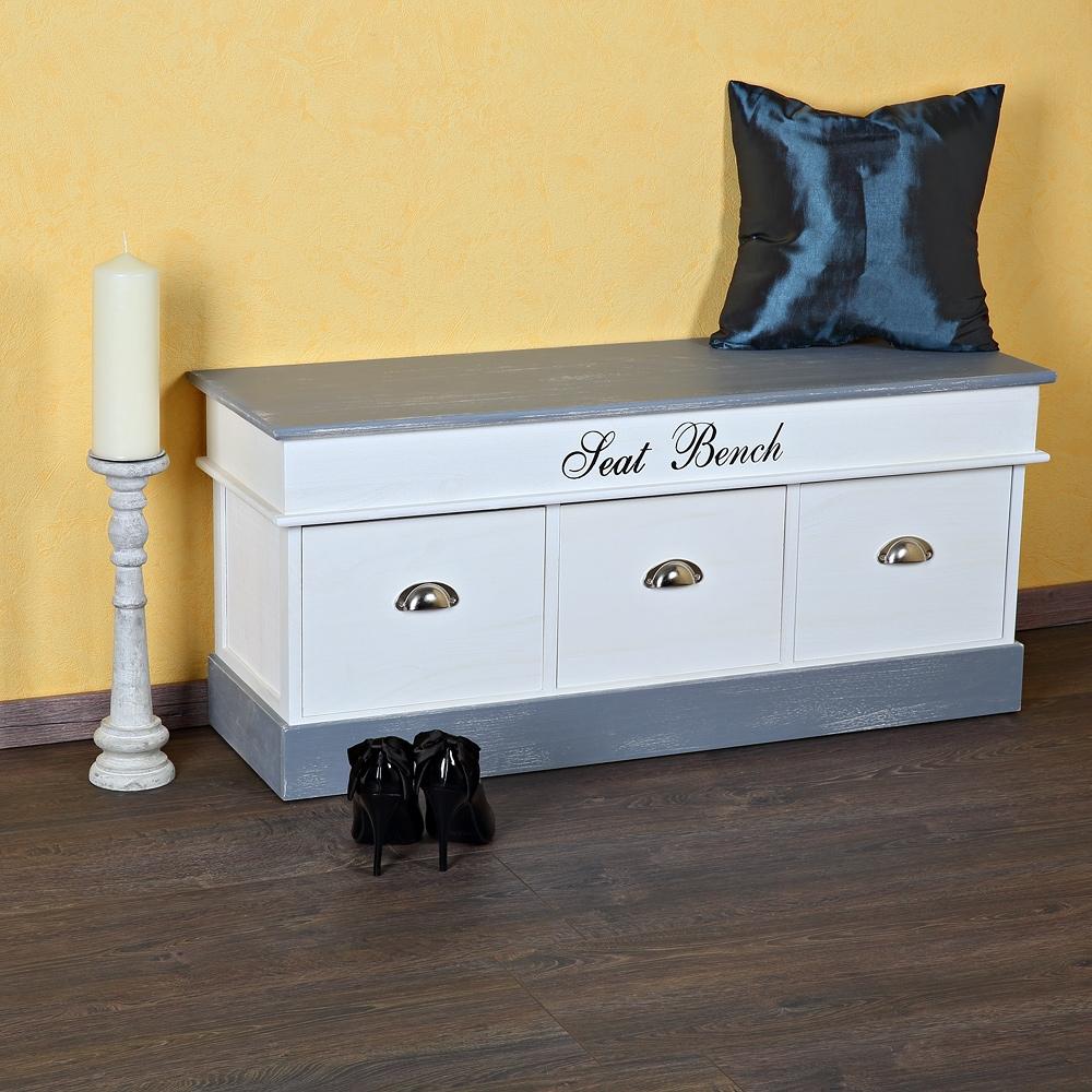garderobenbank sitzbank kommode shabby schuhschrank antik. Black Bedroom Furniture Sets. Home Design Ideas