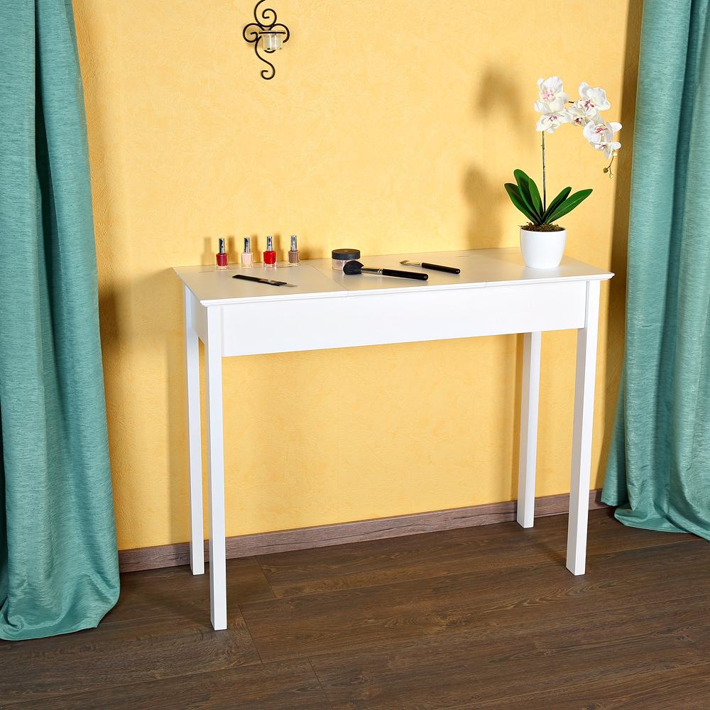 schminktisch kosmetiktisch konsole f cher spiegel in wei sekret r landhausstil ebay