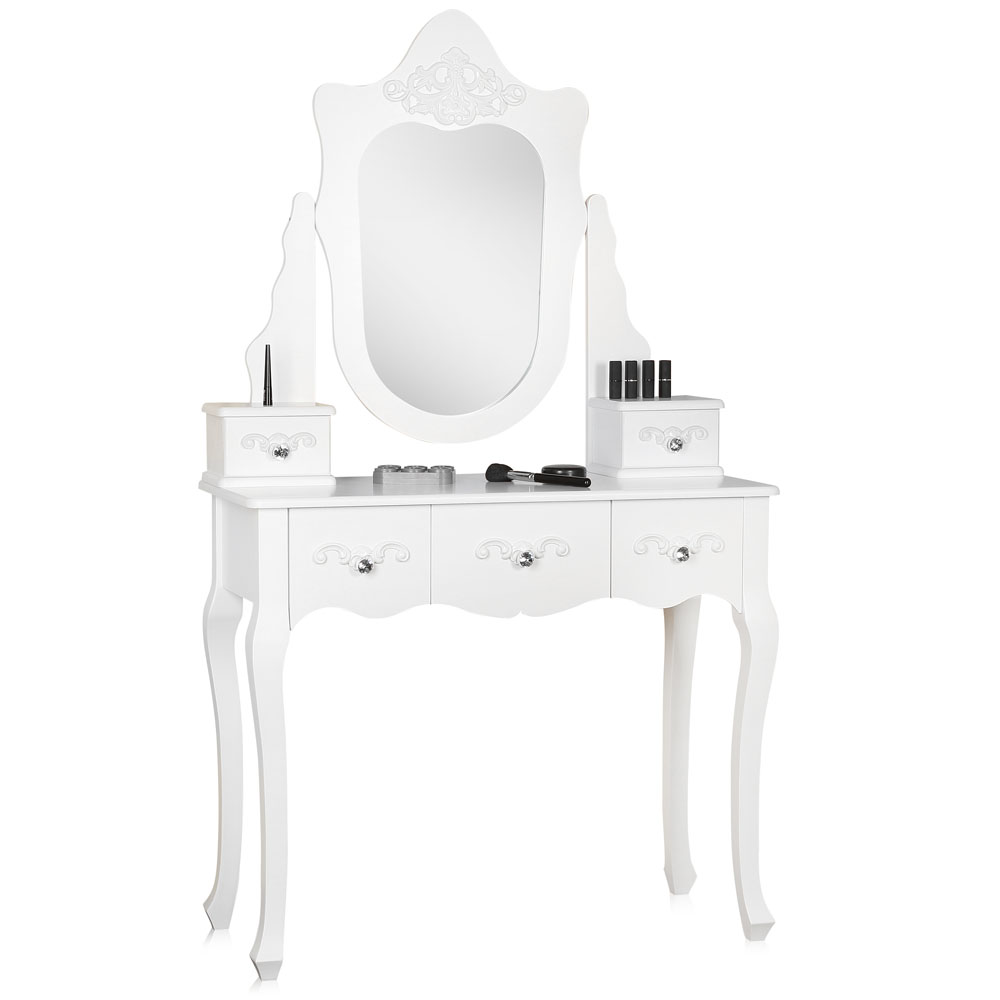 shabby chic schminktisch hocker frisierkommode kosmetiktisch barock wei vintage ebay. Black Bedroom Furniture Sets. Home Design Ideas
