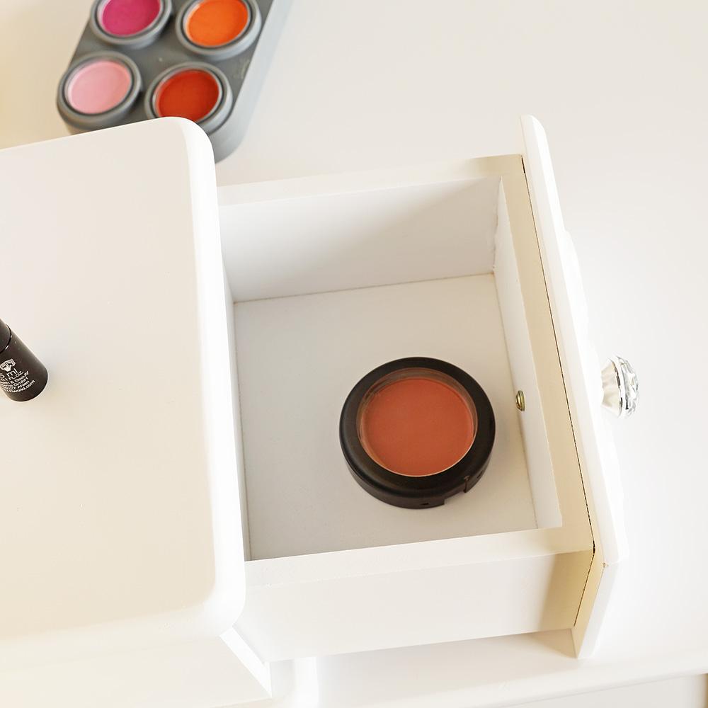 schminktisch wei frisierkommode kosmetiktisch mit spiegel. Black Bedroom Furniture Sets. Home Design Ideas
