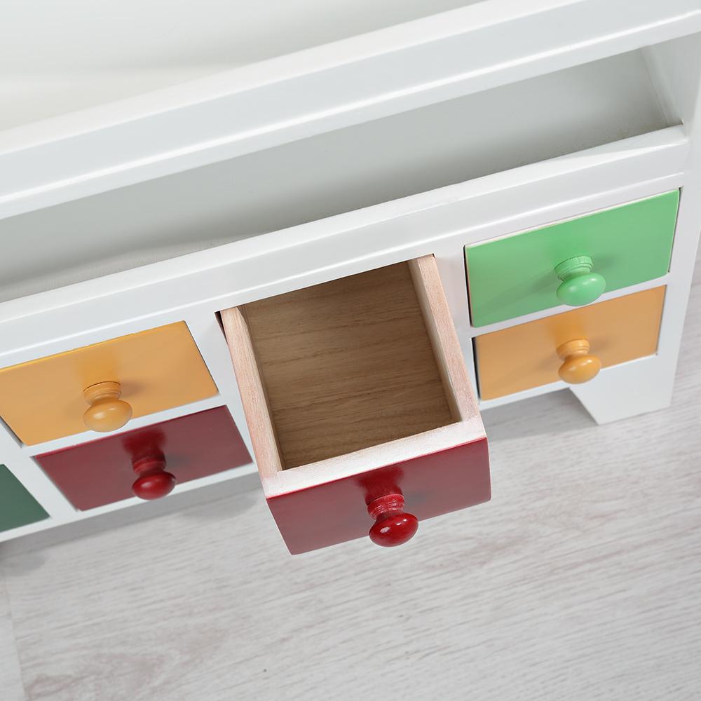 kommode patchwork bunt b cherregal anrichte schubladen zeitungsst nder holz ebay. Black Bedroom Furniture Sets. Home Design Ideas