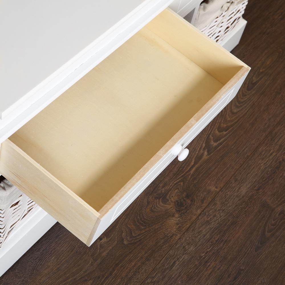 kommode landhaus bank 100cm schrank truhe flurbank wei sitzbank 2 schubladen ebay. Black Bedroom Furniture Sets. Home Design Ideas