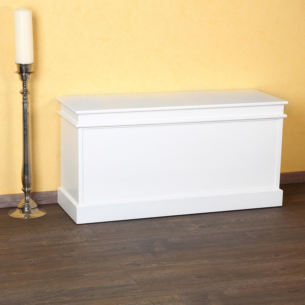 kommode landhaus bank 100cm schrank truhe flurbank wei. Black Bedroom Furniture Sets. Home Design Ideas