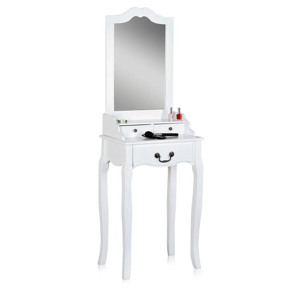 schminktisch mit 3 spiegel hocker frisierkommode. Black Bedroom Furniture Sets. Home Design Ideas