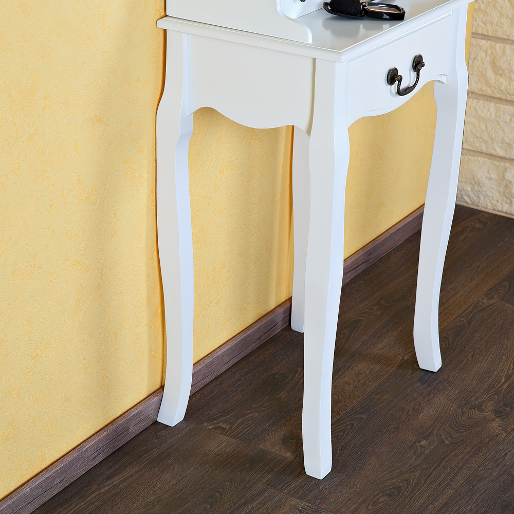landhaus schminktisch spiegel frisierkommode frisiertisch kosmetiktisch wei ebay. Black Bedroom Furniture Sets. Home Design Ideas