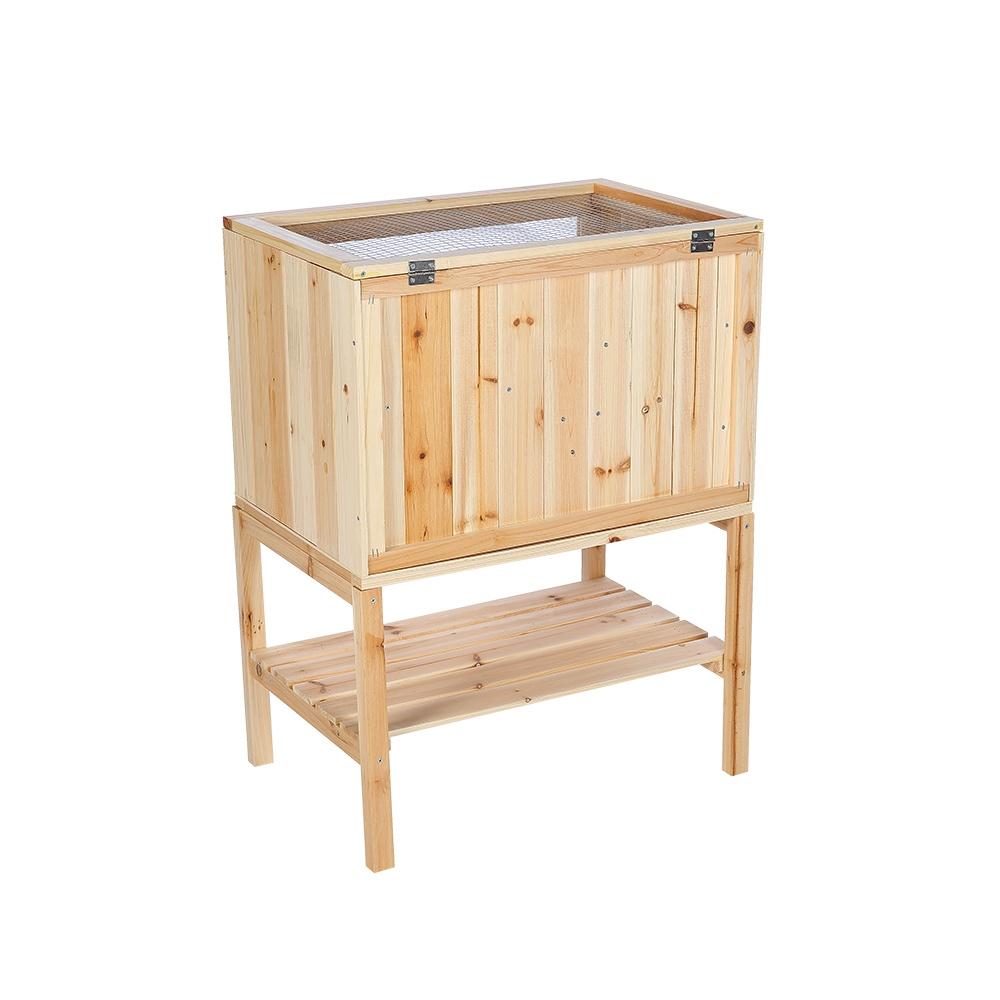 Kleintierkaefig-Kleintiergehege-Stall-Nagerheim-Maeusekaefig-Auslauf-Terrarium-Holz