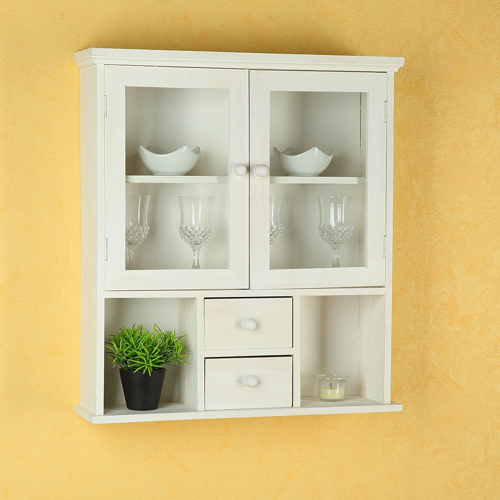 regal vitrine wandregal wandschrank schrank landhausstil vintage wei ebay. Black Bedroom Furniture Sets. Home Design Ideas