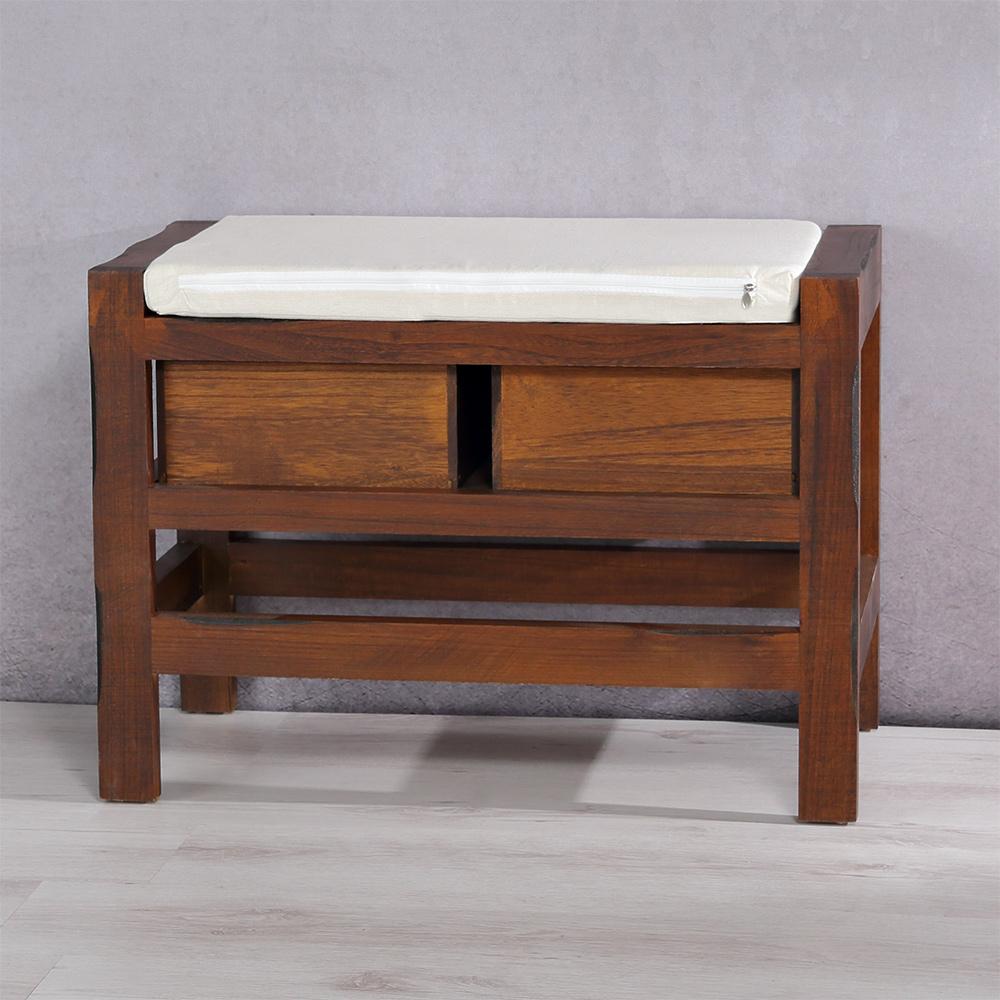 massivholz sitzbank fu bank 2 schublade sitzpolster sitzm bel kissen ebay. Black Bedroom Furniture Sets. Home Design Ideas