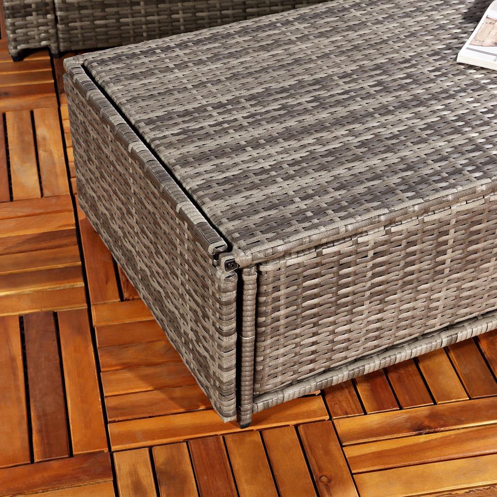 polyrattan gartensofa lounge sessel grau ebay. Black Bedroom Furniture Sets. Home Design Ideas