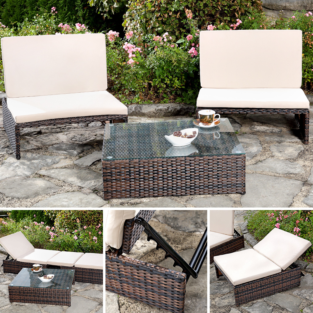Garden set with 2 chairs and table bench set garden for Sessel tisch