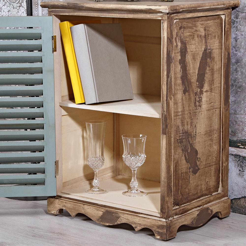 shabby wandschrank gr n holz kommode anrichte sideboard badezimmer schrank ebay. Black Bedroom Furniture Sets. Home Design Ideas