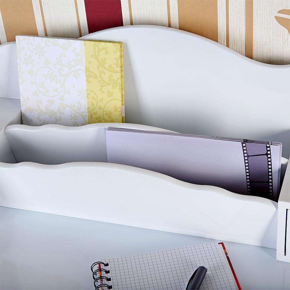 landhaus sekret r antik wei schreibtisch schminktisch shabby landhausstil holz ebay. Black Bedroom Furniture Sets. Home Design Ideas