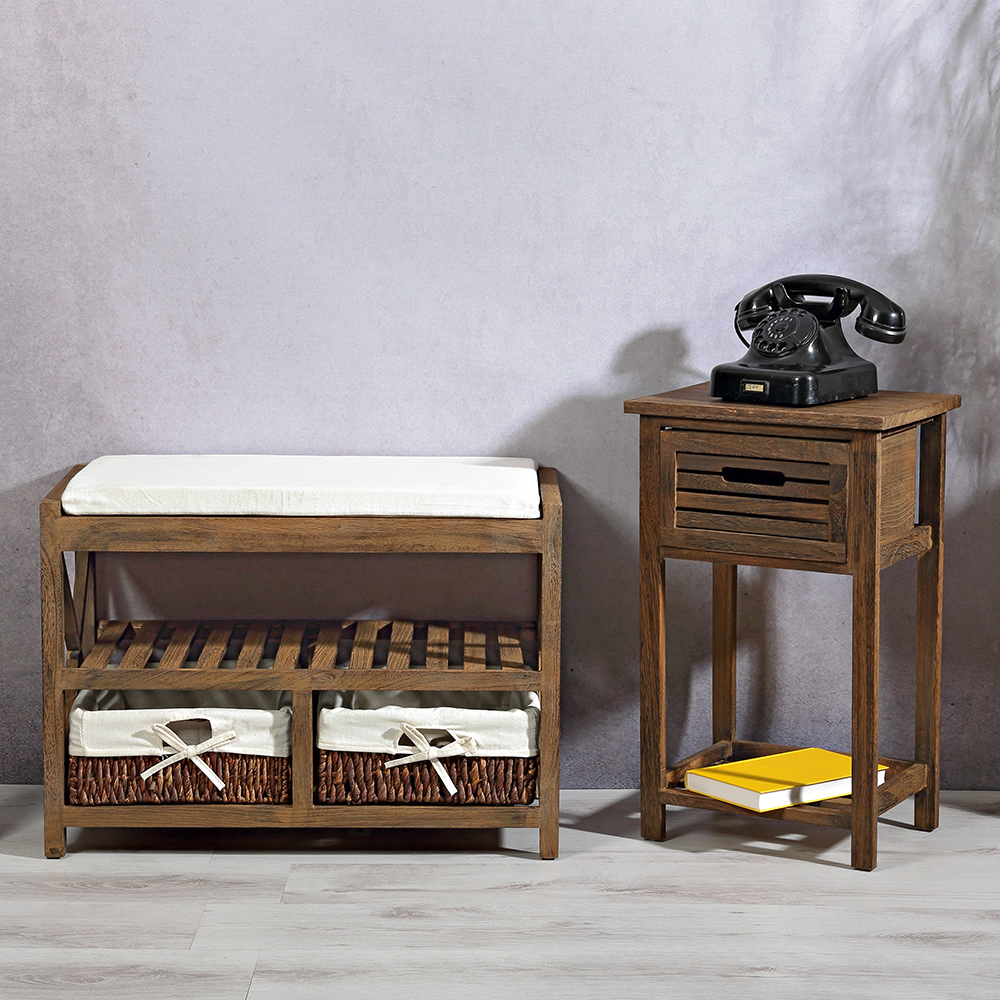 sitzkommode used look sitzpolster sitzbank flur bank truhe schuhregal vintage ebay. Black Bedroom Furniture Sets. Home Design Ideas