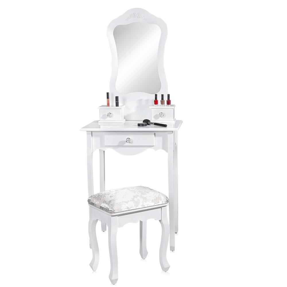 schminktisch spiegel frisierkommode frisiertisch kosmetiktisch klein wei ebay. Black Bedroom Furniture Sets. Home Design Ideas