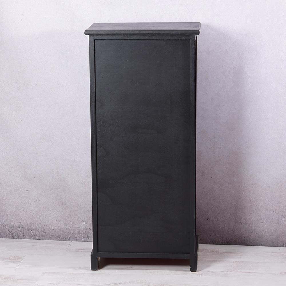 Highboard mit fotohalter wohnzimmerschrank kommode schrank for Wohnzimmerschrank schwarz