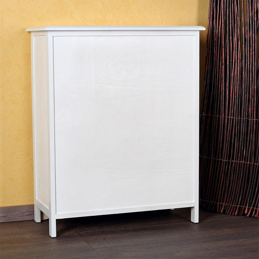Kommode landhaus schrank sideboard badschrank regal wei for Schrank 60x40