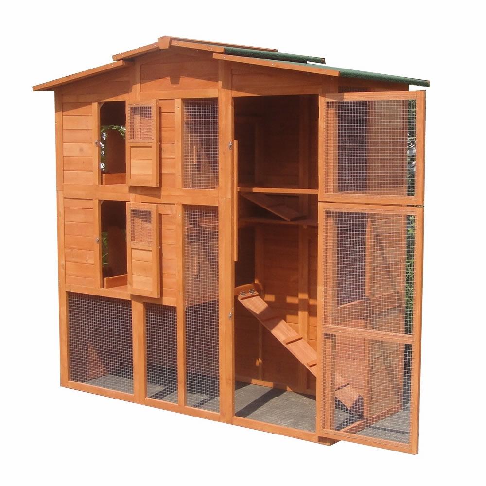 h hnerstall xxl freilaufgehege freigehege holz hasen stall kaninchenstall 4250357376624 ebay. Black Bedroom Furniture Sets. Home Design Ideas