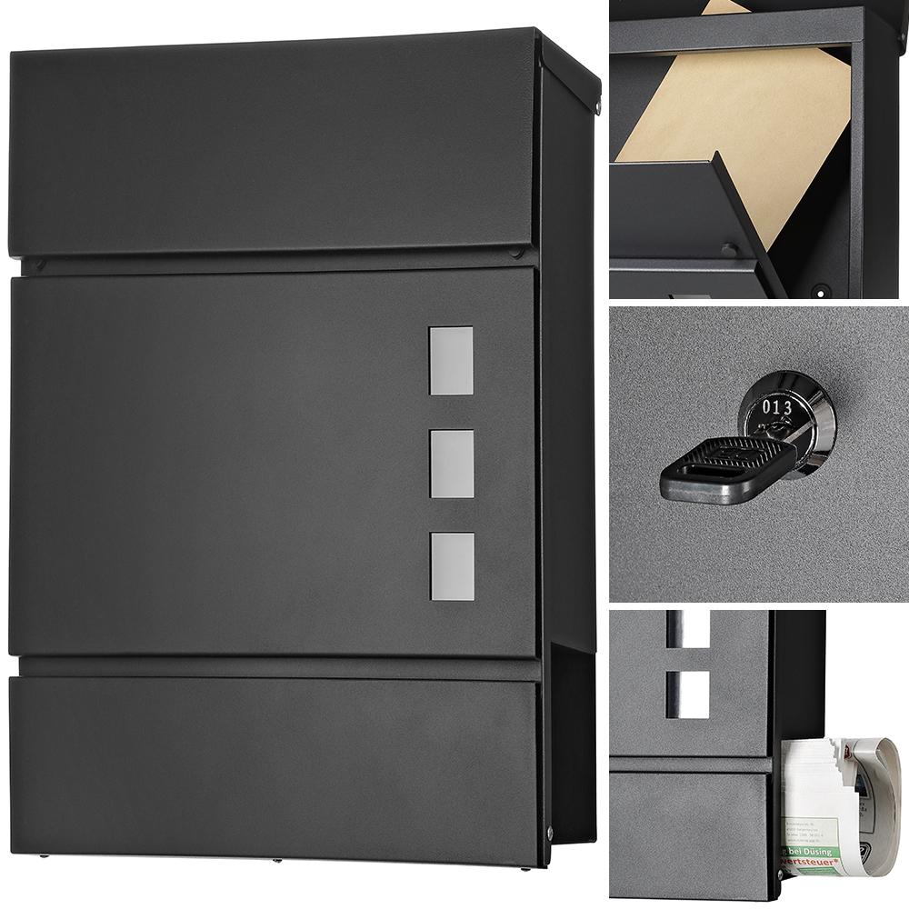 briefkasten zeitungsfach wandbriefkasten postkasten. Black Bedroom Furniture Sets. Home Design Ideas