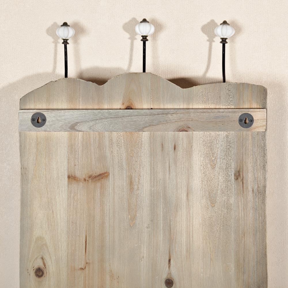 shabby jackengarderobe 6 garderobenhaken holz wandpaneel h ngegarderobe wei ebay. Black Bedroom Furniture Sets. Home Design Ideas