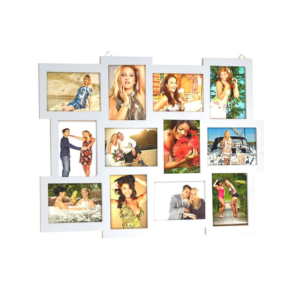 12FOTOS BILDERRAHMEN BILDERGALERIE Rahmen Collage hellgrau 10x15 ...